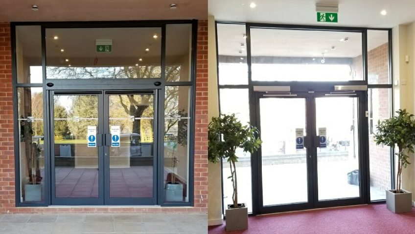 image of outside and inside of door installation